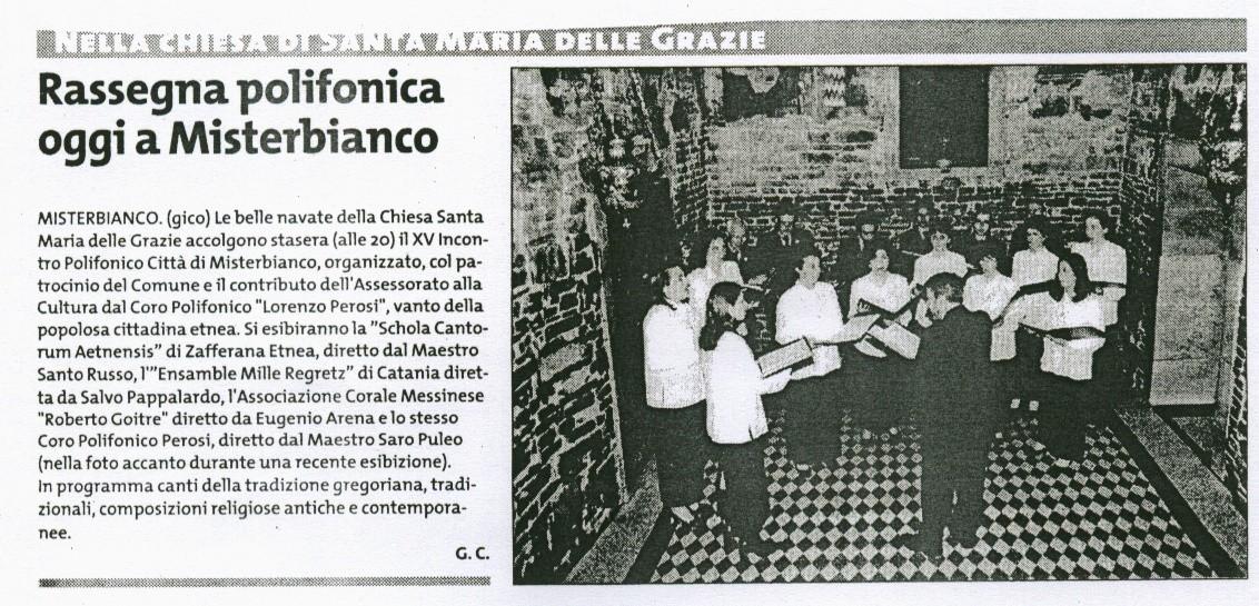 Giornale di Sicilia 08.11.2003