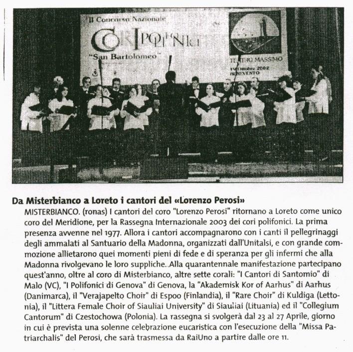 Giornale di Sicilia 16.04.2003