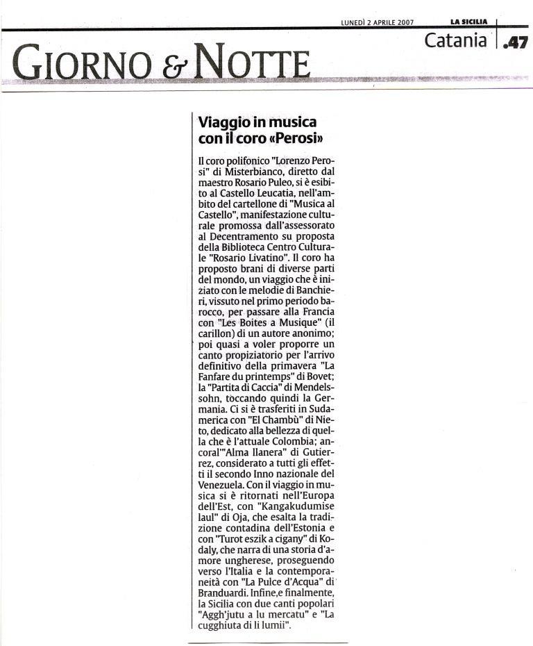 La Sicilia  02.04.2007