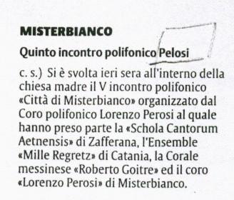 La Sicilia 9 novembre 2003