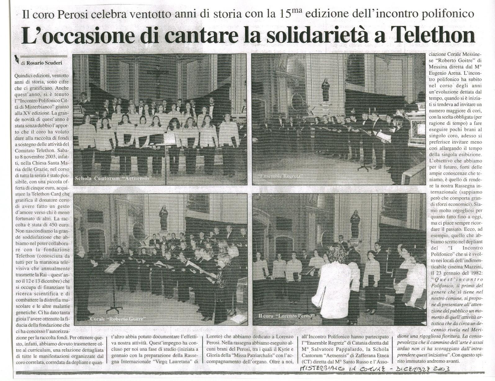 Misterbianco in Comune - dicembre 2003